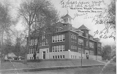 Macon  Mo  Missouri             Macon High School              1910 Postcard
