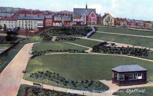 Sheffield-Crookes-Valley-Recreation-Ground-unused-old-postcard-Good