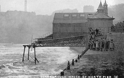 Wreck of North Pier Scarborough 1905 (B) unused pc Queen Series TT&S  Ref A118