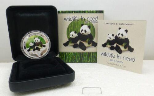 "2011 Australia 1 oz Silver Proof Giant Panda ""Wildlife In Need"" Coin"