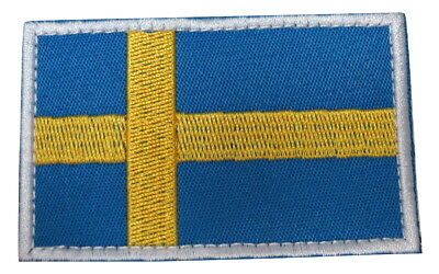 Sweden Swedish National Country Flag Embroidered Hook Loop Patch ()
