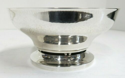 "Georg Jensen Sterling Silver Hand Hammered Bowl. Date 1933-44. 6 1/8"" x 3"" High"