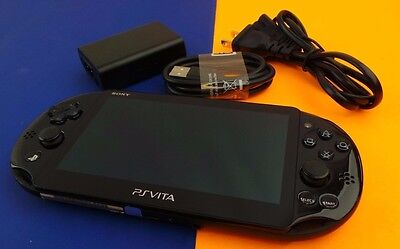 Used Sony Ps Vita Black  Handheld System Console Model Pch 2001 Black  Bch22