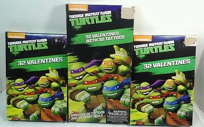 Ninja Turtles Tattoos (Ninja Turtles Valentines 32 Count USA Tattoos, Pizza or Game  Series)