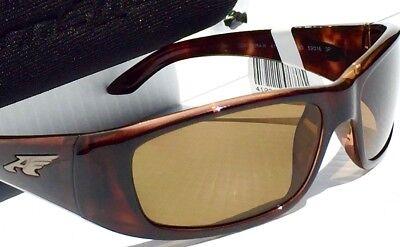 New  Arnette Quick Draw Tortoise Sport W Polarized Brown Lens Sunglass 4178