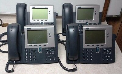 Lot Of 4 Cisco Cp-7940g 7940 Series Ip Phone 68-2564-03 C0d0 Tested Free Ship