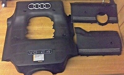 AUDI A6 AVANT 24 V6 ENGINE COVER 2003   ALL THREE PARTS   FREE DELIVERY