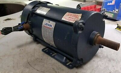 Leeson 2 Hp Electric Ac Motor 208-230460 Vac 1725 Rpm 3 Phase K145t Frame
