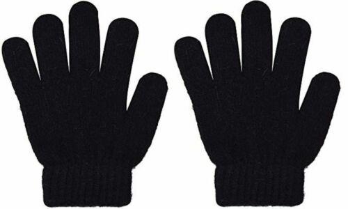 Magic Black Knitted Winter Warm Gloves for Girl Boy Kids Magic Gloves