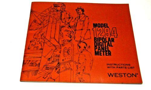 Model 1294 Bipolar Digital Panel Meter Instruction Booklet