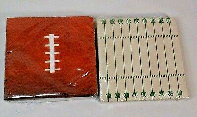 Football & Field paper Napkins 36 each  Playoffs or Superbowl  New  (Football Field Paper)