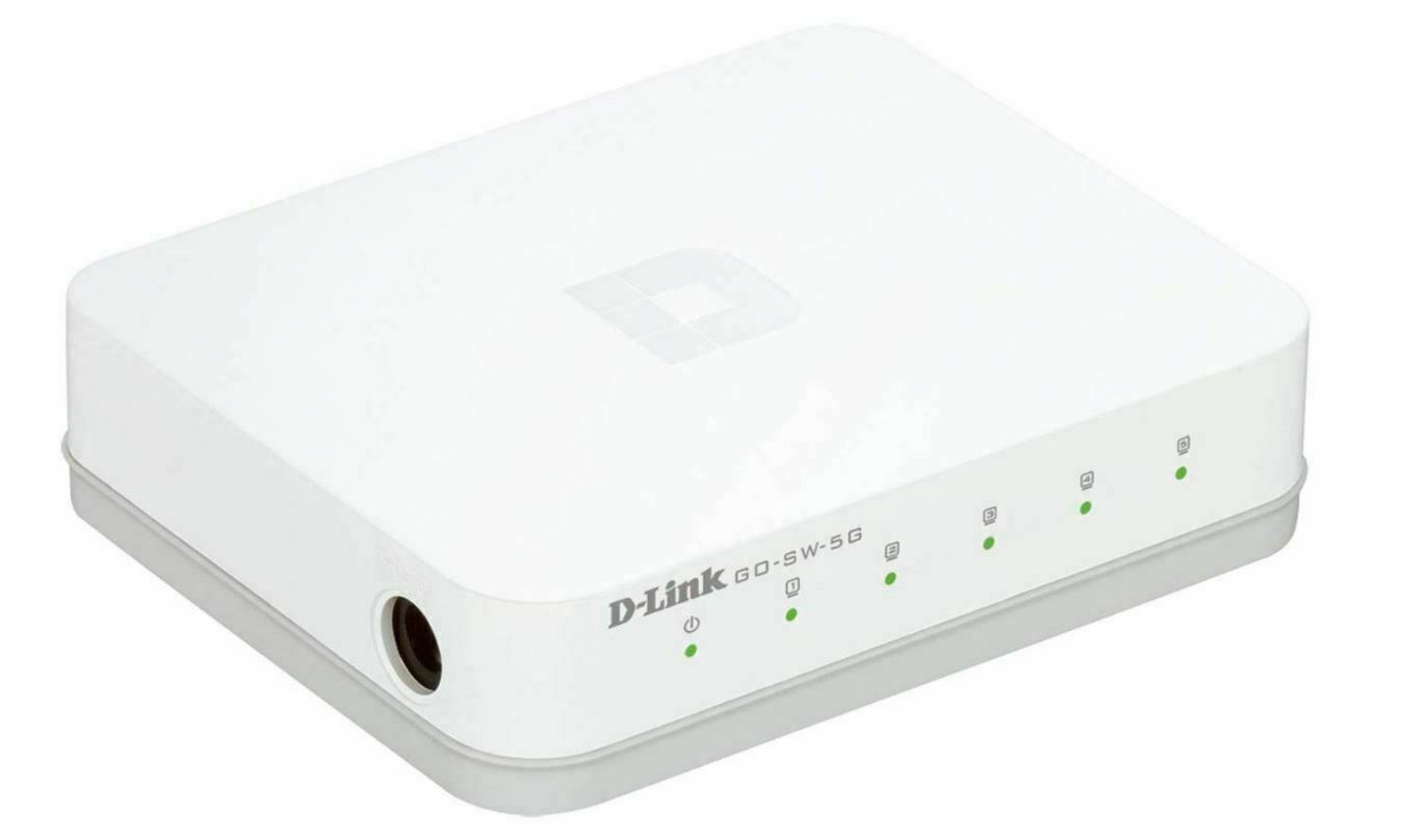 DLinkGO Dlink Switch GO-SW-5G 5-Port Gigabit Ethernet Switch