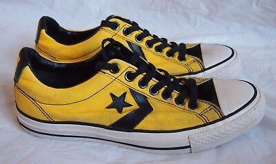 Vintage 90s Retro Yellow STAR PLAYER OX Converse All Stars Men's Trainers Size 7