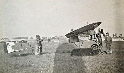 ORIGINAL- WW1 FRENCH BLERIOT XI MONOPLANE PHOTOGRAPH c1917 (1st WAR PLANE) NICE!