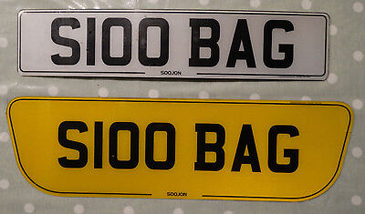$100 BAG  Private Reg. Personalised Reg. ON RETENTION - No further fees to pay.