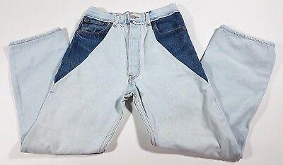 LEVIS RE / DONE Denim Light Wash Patchwork Straight Leg Jeans - size 26