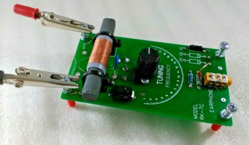 Crystal Radio Assembled with Litz Wire Ferrite Coil and Piezo Earphone RK-7CL