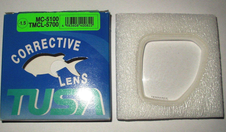 TABATA MC-7500 Optical Lens -1,5 Dpt. Opitisches Glas für Tusa Taucherbrillen