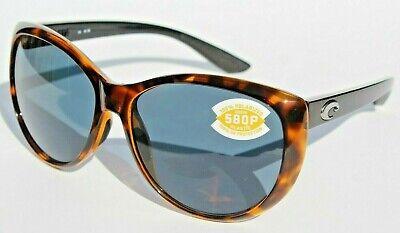 COSTA DEL MAR La Mar 580P POLARIZED Sunglasses Womens Retro Tortoise/Gray (Costa Del Mar Sunglasses For Women)