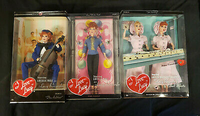 """I Love Lucy"" Mattel Barbie Doll set Pink Label Collection"