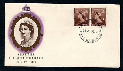 Tokelau Islands - 1953 QE2 Coronation illustrated First Day Cover