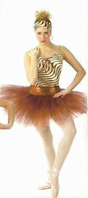 Animal Attraction Dance Costume Camisole Top Powder Puff Tutu Clearance 6X7 & CL](Powder Puff Girls Costumes)