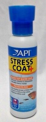 API Stress Coat + Aquarium Tap Water Conditioner 4oz Protects Fish