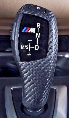 BMW OEM F30 F32 F33 F10 Performance Dry Carbon Fiber Sport Auto Shift Knob Trim