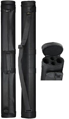 NEW Lucasi LC22A 2x2 Pool Cue Case - Two Accessory Pouches - New Item