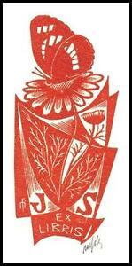 Otakar Marik Fils X2 Exlibris Bookplate Butterfly Schmetterling Papillon 740 - Dabrowa, Polska - Otakar Marik Fils X2 Exlibris Bookplate Butterfly Schmetterling Papillon 740 - Dabrowa, Polska