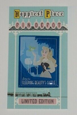 Disney Sleeping Beauty Castle 60th Anniversary Aurora greetings fantasy pin](Disneys Aurora)