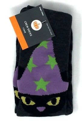Women's Halloween Black Cat Crew Socks OSFM