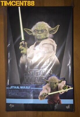 Ready! Hot Toys MMS495 Star Wars Episode II Attack of the Clones Yoda 1/6 New