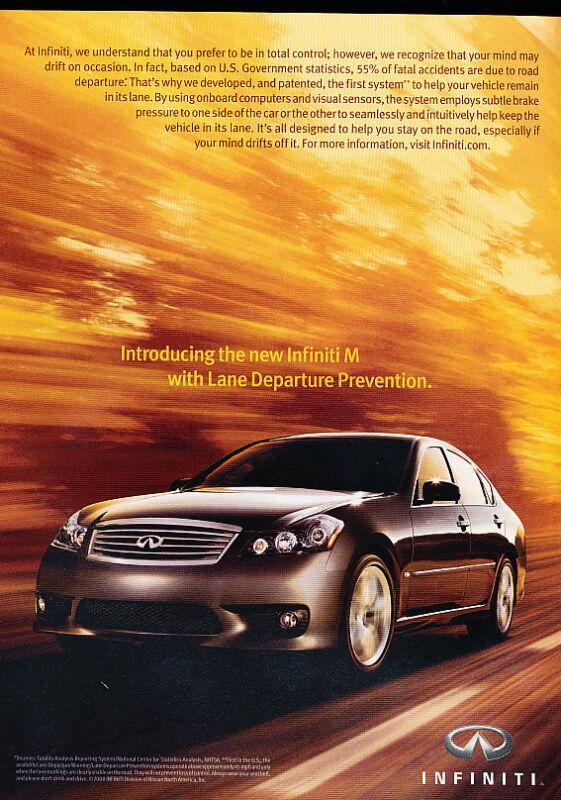 2009 Infiniti M45 - lane -  Classic Advertisement Ad A58-B