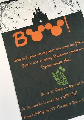 Disney Halloween invitations, Not so scary party invites, Disney Halloween party (Disney Halloween Party Invitations)