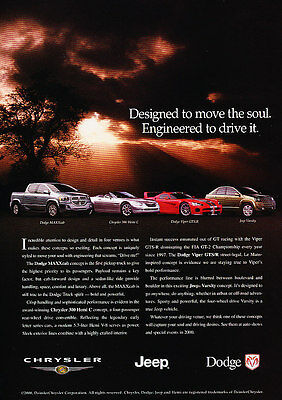 Classic Vintage Advertisement Ad D178 Rolled 2000 Chrysler 300M