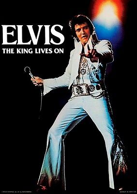 ELVIS PRESLEY ~ THE KING LIVES ON ~ 20x28 Music Poster ~ NEW/ROLLED!