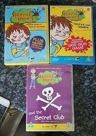3 horrid henry dvds