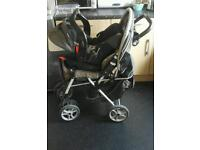 GRACO METROSPORT PUSH CHAIR WITH BABY CARRIER