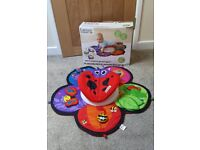Lamaze Spin and Explore Garden Gym Play Mat and Tummy Time Spinner
