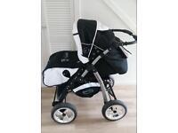 Black&White Baby merc pushchair stroller buggy 3 in 1