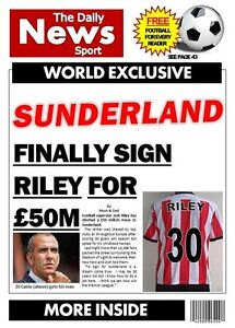 Personalised Sunderland Football Birthday Card