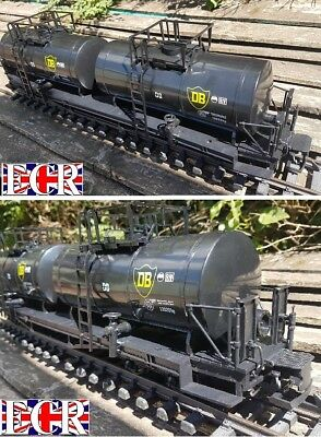 G SCALE 45mm GAUGE HUGE DOUBLE OIL TANKER CARGO TANK ROLLING RAILWAY STOCK TRAIN for sale  Shipping to Ireland