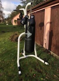 Heavyweight boxing bag with quality stand, speedball and gloves, OPEN TO OFFERS