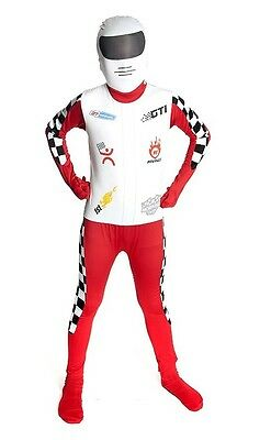 Kids Racer Morphsuits Childs Costume Large 4'6 - 5' (135cm - 152cm) - Kids Morphsuits