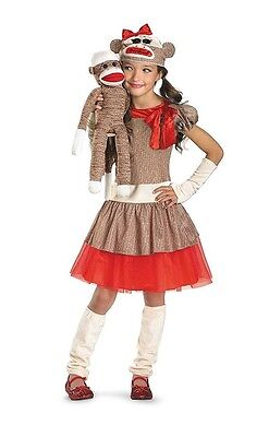Disguise Sock Monkey Girl Child Costume #38334L Size Small 4-6x (Sock Monkey Costume For Girls)