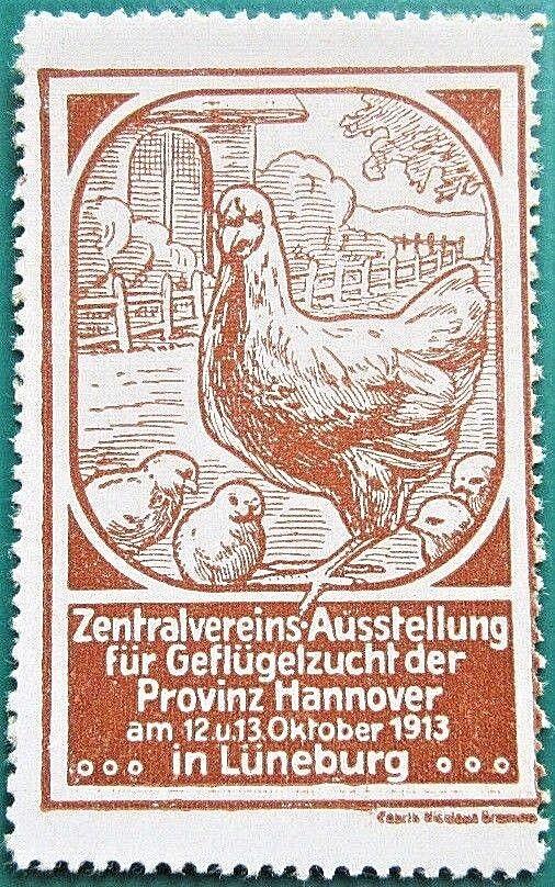 Ausstellung f.Geflügelzucht 12.-13.10.1913 Lüneburg,Drk.Nicolaus Bremen (#25584)