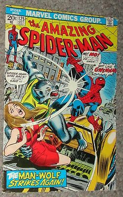 Spider Man  125 Orgin Man Wolf Glossy F Vf To Vf