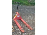 Clarke and Chadwick Manual Pump Pallet Warehouse Trucks - Lift up to 2000kgs each