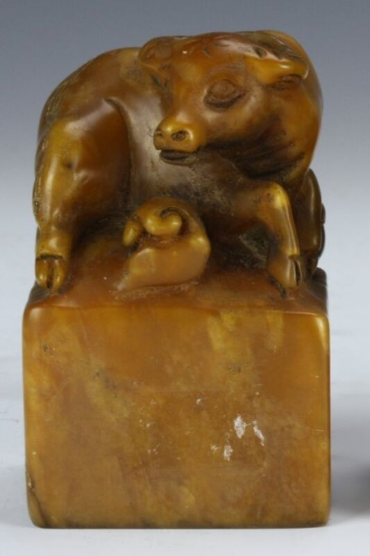 ANTIQUE CHINESE SOAP STONE SEAL